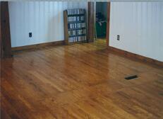 After Hardwood Repair Refinishing