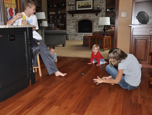 Color Brilliance Hickory Stained Dark with kids playing resized 600