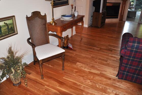 customer example, hardwood floor