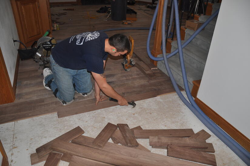 Quality hardwood floor installation requires knowledge, craftsmanship, and dedication.