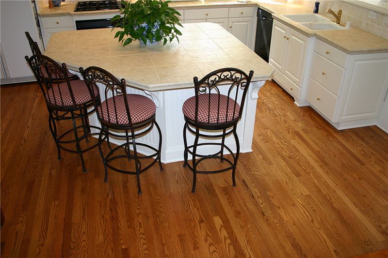 red oak stained Swedish finish