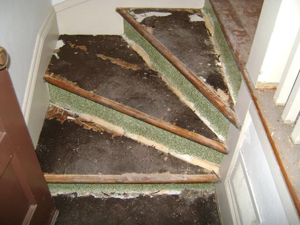 Stair Refinishing Before