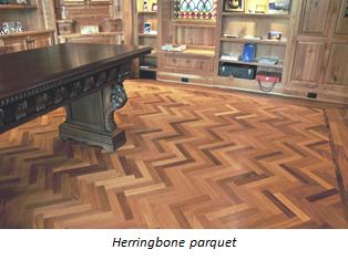 Herringbone parquet