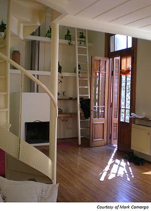 Hardwood floors in apartment