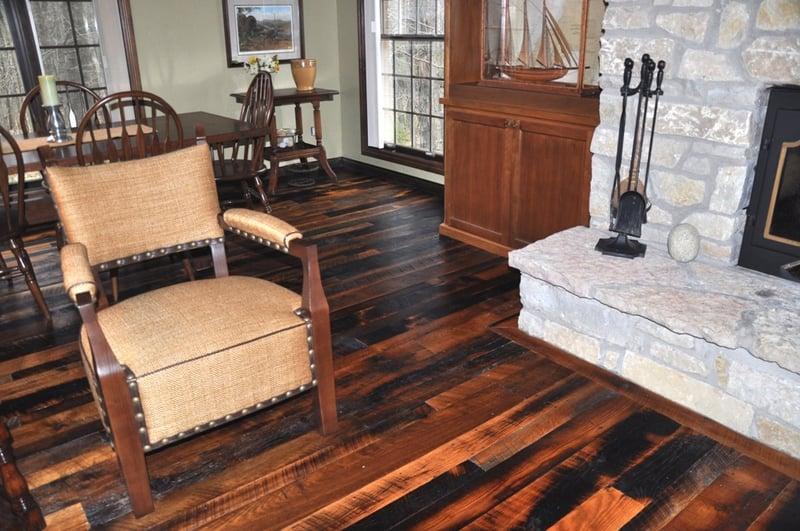 Rustic antique oak hardwood flooring
