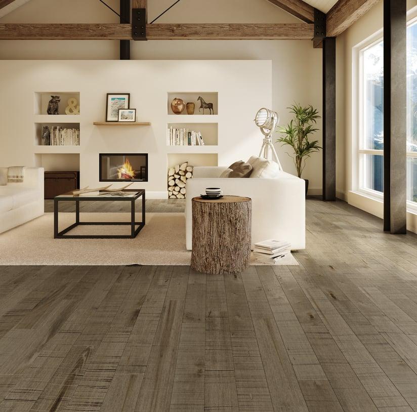 Preverco Edge whitewashed hardwood flooring
