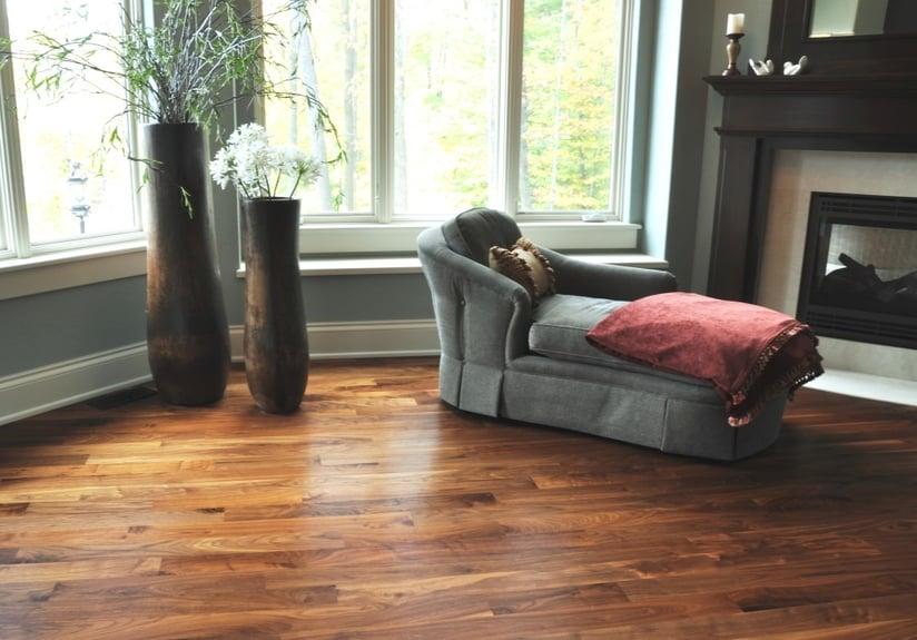American Walnut hardwood flooring naturally creates a coziness that many homeowners love.