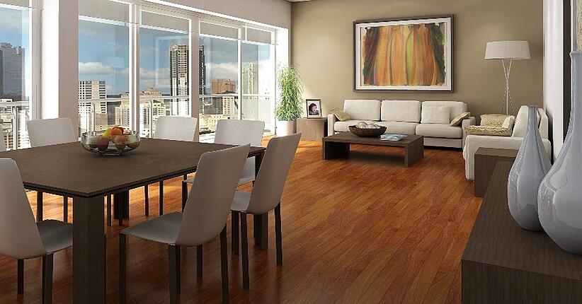 Long plank hardwood flooring is back in style!