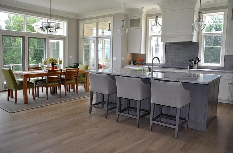 Hardwood floors are a perfect fit for the relaxed beach house look.