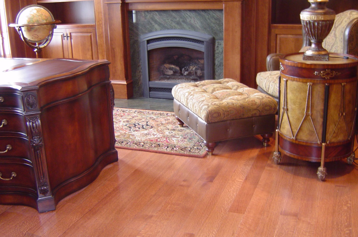 Red Oak Quarter Sawn Select Stained custom hardwood flooring