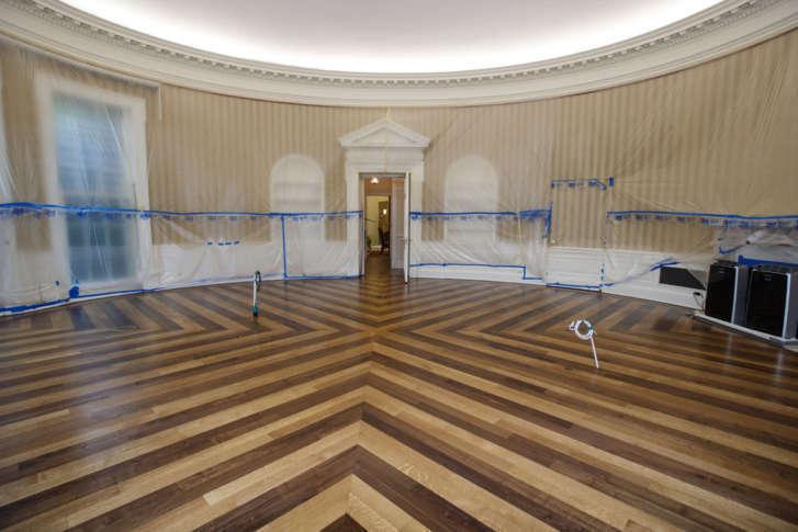 white house renovation color